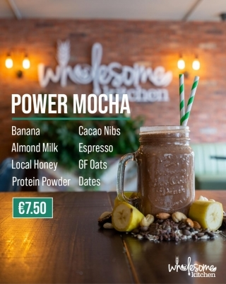 Wholesome Kitchen Nutritional Shake Menu Power Mocha