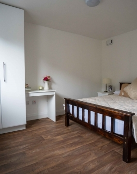 skyclad homes master bedroom photography production