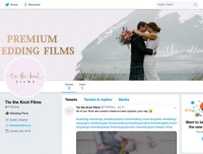 tie the knot films twitter page screenshot graphic design