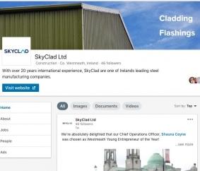 skyclad ltd linkedin page screenshot graphic design