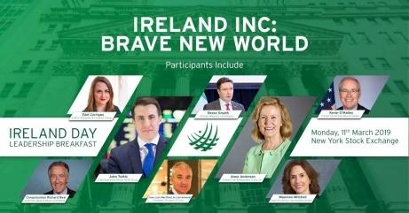 ireland day 2019 panel new york stock exchange nyse