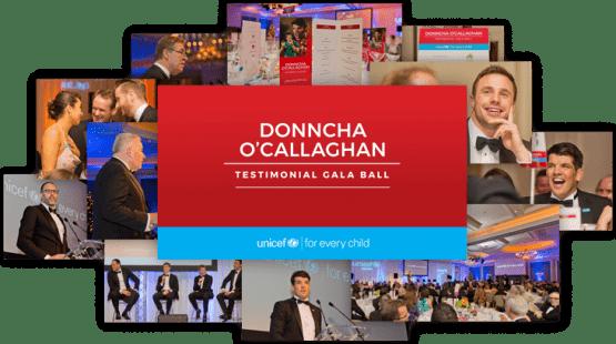 Donncha O'Callaghan Testimonial Gala Ball in aid of UNICEF Ireland