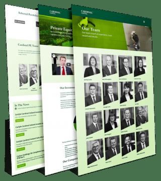 cardinal capital group webpage examples