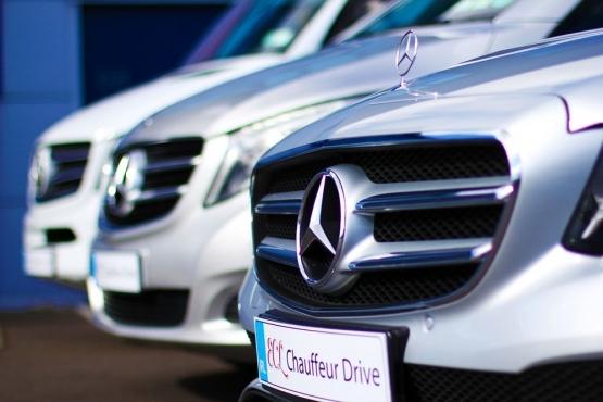 ECL Dublin Ireland car van vehicle fleet lined up in a row chauffeur drive