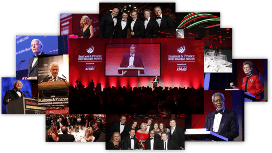 business and finance awards photo collage